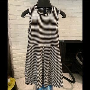 Madewell Black and white Stripe Dress - Size M